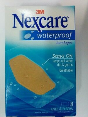 Nexcare Waterproof Clear Bandage, Knee and Elbow, 8-Count Package