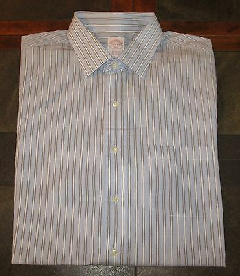 Men's Brooks Brothers All Cotton Regular Fit Button Up Shirt Size 17 1/2 4-5