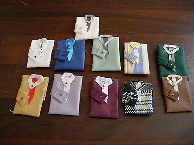 1 /12Th Scale Dolls House Handmade Set Of 3 Man Gents Shirt And Tie Clothes