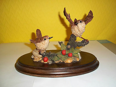 Country Artists 442  Wren and young bird ornament, lovely detail, used but good.