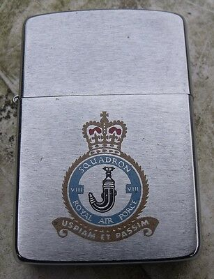 1986 8 Squadron Royal Air Force Zippo Lighter