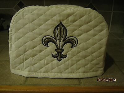 New FLEUR DE LIS 2 or 4 Slice Toaster Covers, Cream Color. Kitchen Decor