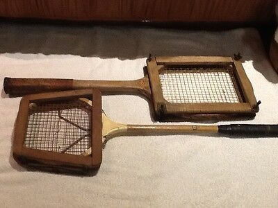 Antique Collectable Tennis Rackets