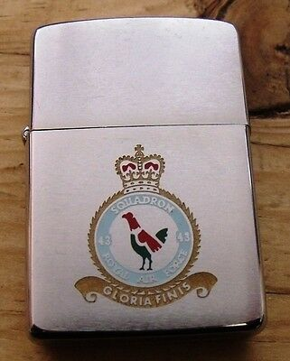 1982 Royal Air Force 43 Squadron Double Sided Zippo Lighter