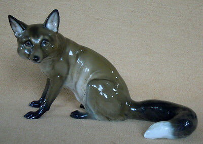 ROSENTHAL ART DECO PORCELAIN FOX FIGURINE #983 by MH FRITZ EXCELLENT CONDITION