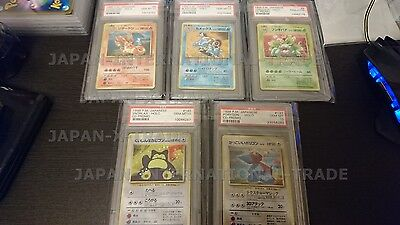 PSA 10 complete 5 x holo cd promo pikachu records set, charizard blastoise cards