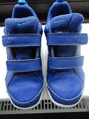 Nike Boys' Blue Leather Velcro Casual Trainers Junior Size 13