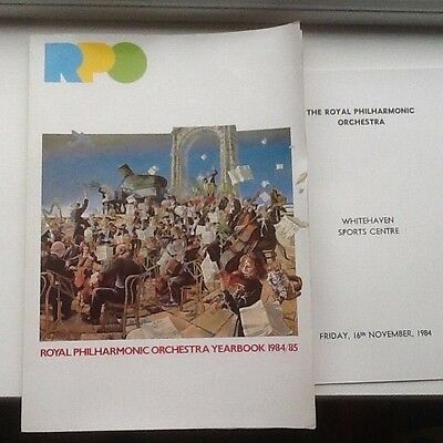 ROYAL PHILHARMONIC ORCHESTRA YEAR BOOK 1984/85 + a 1984 concert programme