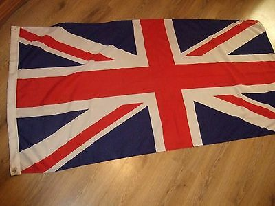 Union Flag Great Britain Jack  5' X 3'  Polyester Fabric Zephyr Flag & Banner Vg