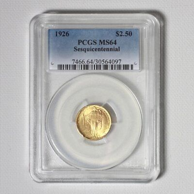 1926 Sesquicentennial Gold $2.5 PCGS MS64 ***Rev Tye's Coin Stache*** #4097600