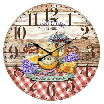 French Country Chic Vintage Inspired Wall Clocks  KITCHEN JAMS Gingham