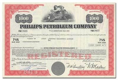 Phillips Petroleum Company Bond Certificate