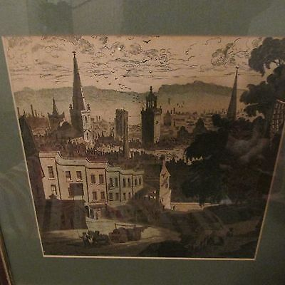 framed print of bristol from st. michaels hill