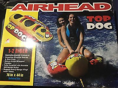 NEW! Airhead Top Dog 2 Person Towable Tube Torpedo Shape Towables Raft Boat