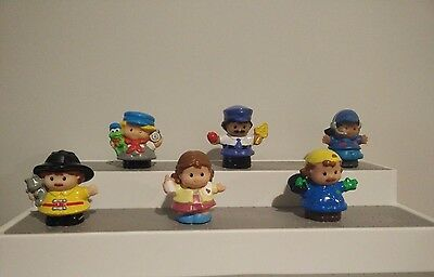 Modern Chunky Fisher Price Little People Tradeswomen Nurse Garbage Pilot Fireman