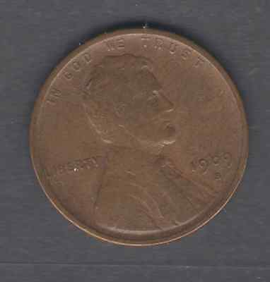 Coins Us Lincoln Cent 1909-S-Vdb