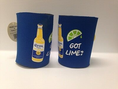 2 GOT LIME ? Corona Extra CHIRVAS Beer Bottle Can Koozie Coozie New!! NEOSLEEVE