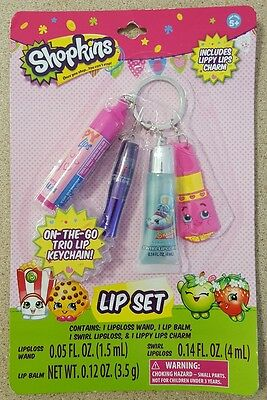 Shopkins Lip Set on Keychain. Brand new in pack.