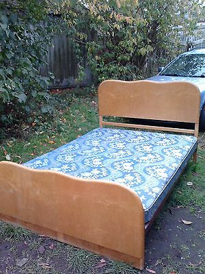 vintage durable double bed