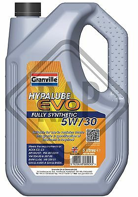 Granville EVO 5w30 C2/C3 Fully Synthetic Engine oil 5 L Litre Longlife Motor oil