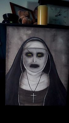 The Conjuring 2 Nun Painting