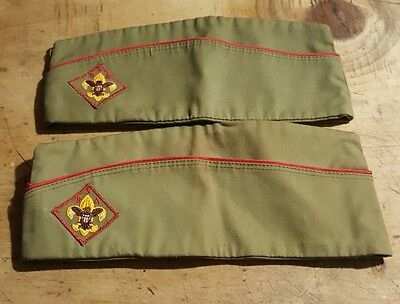 2 Official Bsa Hats Vintage One Large 7-7 1/8, One Medium 6 3/4-6 7/8 Never Worn