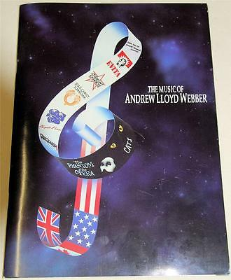 The Music Of Andrew Lloyd Webber Souvenir Theatre Program - Excellent