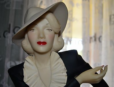 "Marlene Dietrich Statue 53cm / 21"" Tall / Old and VGC"