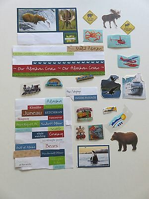 Variety Of Scrapbook Embellishments For An Alaskan Cruise