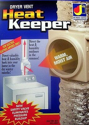 Heat Keeper, Saver - Clothes Dryer Vent Duct Diverter - Free Heat - Ships Free