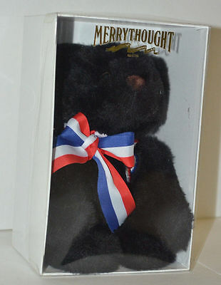 MERRYTHOUGHT Bear Limited Edition Red White Blue Ribbon Plush NIB 7""