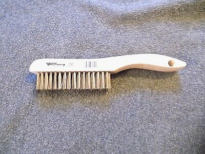 """Forney Industries 70520 Shoe Handle Wire Brush-10-1/4"""" SS WIRE BRUSH"""