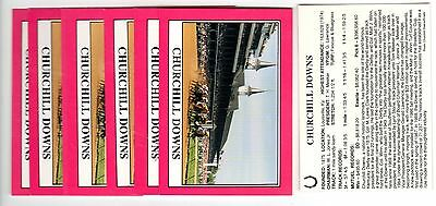 1X CHURCHILL DOWNS 1990 Star KENTUCKY DERBY NO# Insert Horse Racing Lots Availab