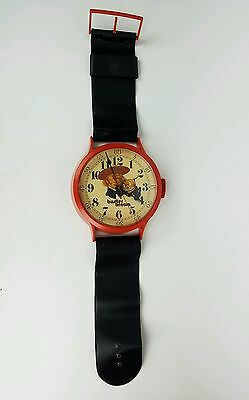 """VINTAGE 38"""" Buster Brown Childrens Shoes ADVERTISING Wall Wrist Watch Clock RARE"""