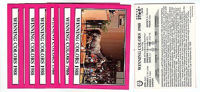 1X WINNING COLORS 1990 Star KENTUCKY DERBY #R114 Horse Racing Lots Availabl NRMT