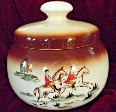 Vintage Tobacco Jar ./ Humidor by Rogers THE HUNT