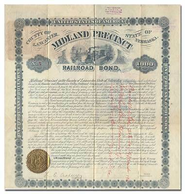 Omaha and Republican Valley Railroad Company Bond Certificate