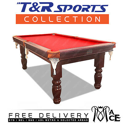 8Ft Red Brand New Design Phoenix Pool Table Snooker Billiard Free Accessories