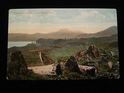 Vintage 1909 Scenic PC View Site of the City of Prince Rupert BC Canada