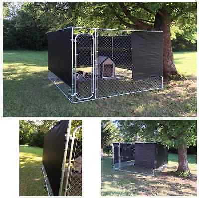 Dog Kennel Cover 10 x 10 Outdoor Kennels Windscreen Shade Cloth Winter Kit Wind