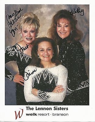 THE LENNON SISTERS SIGNED 8x10 PHOTO WITH COA