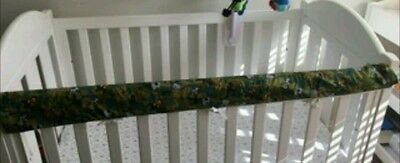 Baby Cot Crib Rail Cover Teething Pad army camoflage & african animals padding