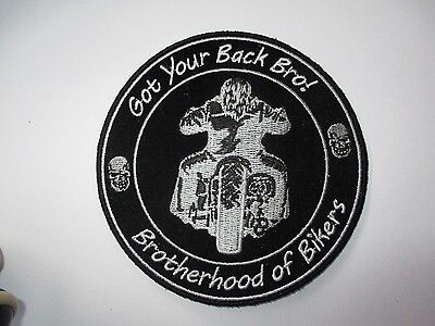 Brotherhood of Bikers Patch - Sew/iron on rider biker motorcycle Men's shed