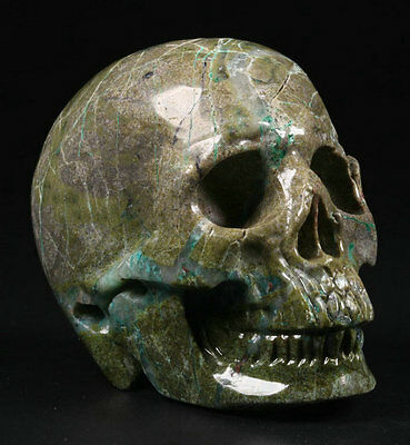 """1.9""""***Carved Crystal Skull, Realistic, Crystal Healing"""