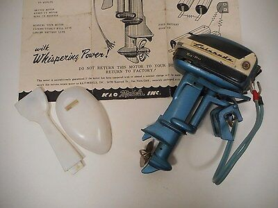 1950's K&O EVINRUDE BIG TWIN ELECTRIC 35 TOY OUTBOARD MOTOR JAPAN W/INSTRUCTIONS