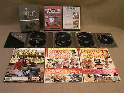 Gold Mining Panning Prospecting Metal Detecting How-to DVD's w/ 2010 Gold Fever+