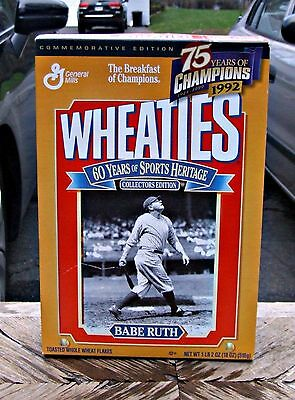 Babe Ruth Wheaties Commemorative Collectors Edition Box Sealed With Cereal