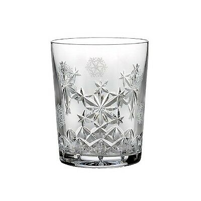 Waterford Drinkware Snowflake Wishes for Goodwill Double Old Fashioned Glass