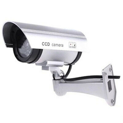 Fake Dummy Surveillance Security Camera CCTV  with Flashing LED Outdoor Indoor