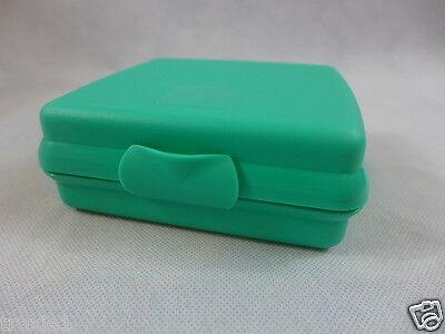 Tupperware Square Sandwich Keeper Locker Adult & Kids Sea Teal Green New Gadget